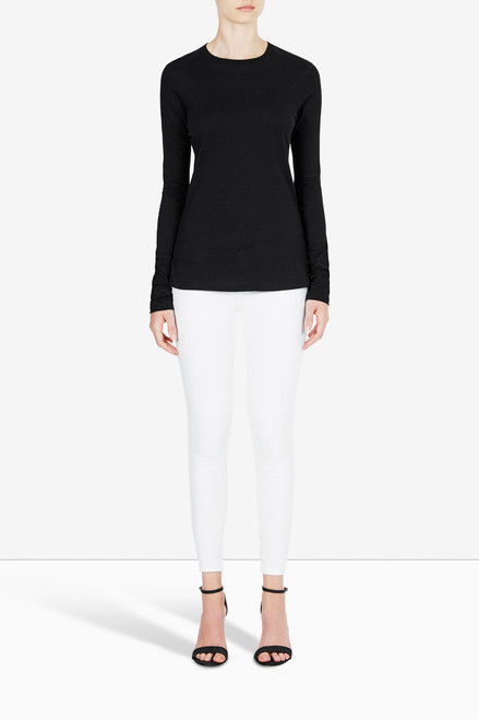 Bon Label Organic Cotton Jersey Black Long Sleeve Top