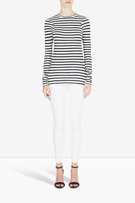 Bon Label Organic Cotton Jersey Striped Long Sleeve Top