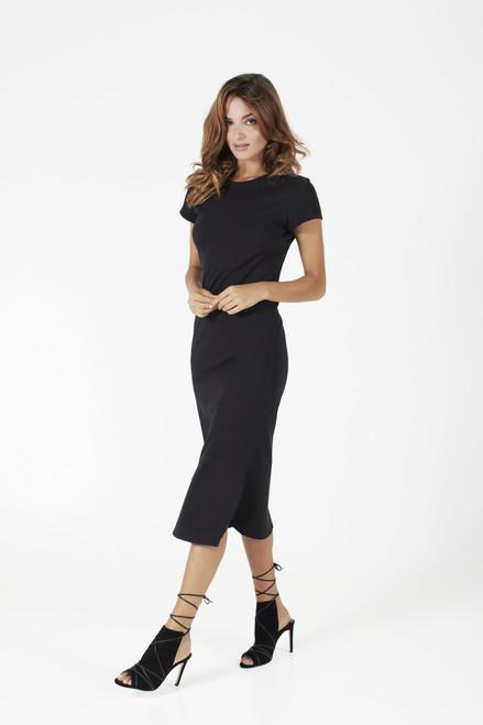 Bon Label Black Organic Cotton Column Dress full view