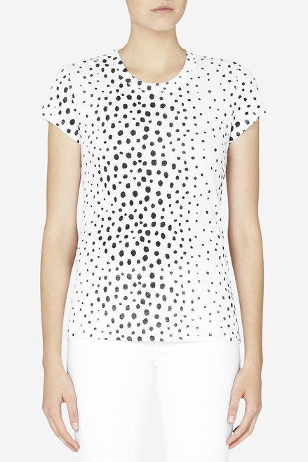 Bon Label Black and White Antelope Print Organic Cotton Tee