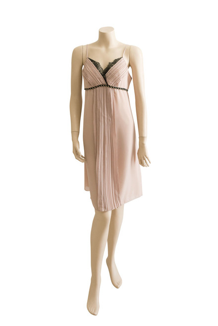Review Beige Lacy Strappy Dress Preloved