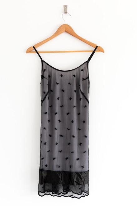 John Cavill Black Lace Slip Dress