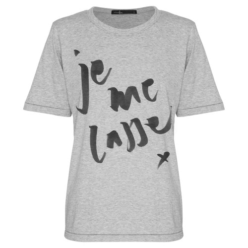 Bon Label Je Me Casse Grey Organic Cotton Tee