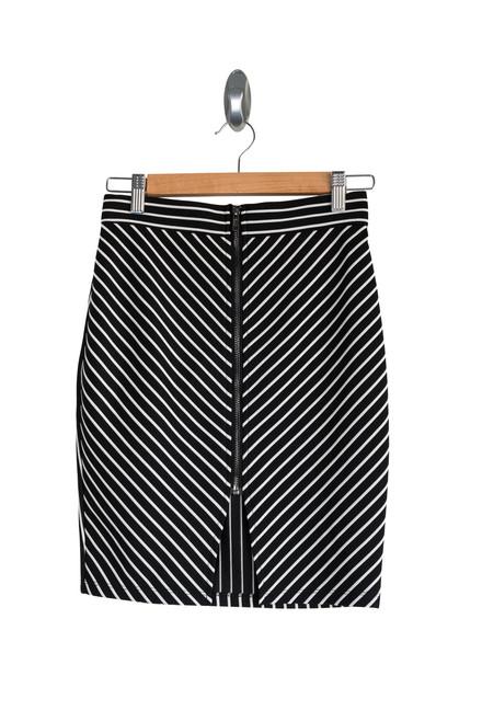Paper Scissors Black and White Stretch Skirt Preloved