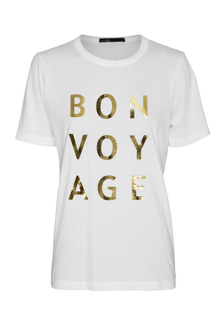 Bon Voyage White Organic Cotton Tee from Bon Label