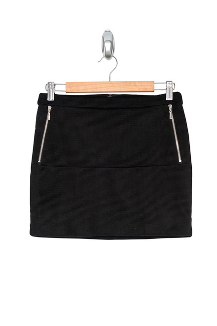 Ksubi Black Mini Skirt with Zipper Detailing