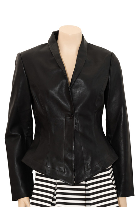 Black Vegan Faux Leather Jacket from James & Co