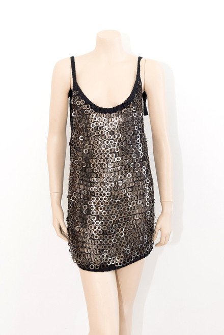 "Sass and Bide ""Metal Sequin"" Dress Top Preloved"
