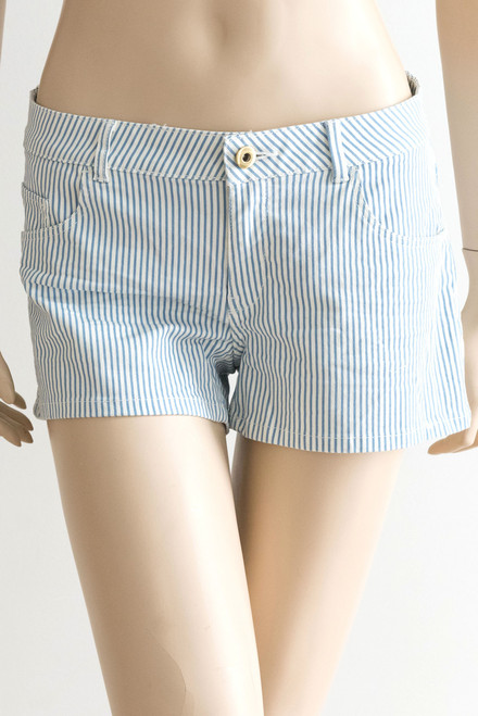 H & M Blue and White Striped Shorts