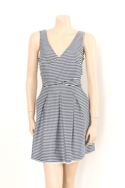 Portmans Blue and White Striped Satin Dress