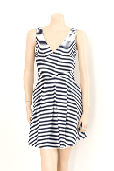 Portmans Blue and White Striped Satin Dress