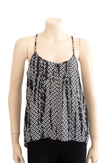 Witchery Black and White Geometric Top Preloved