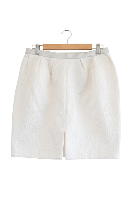 Nicola Finetti Front Split White Cloud Skirt