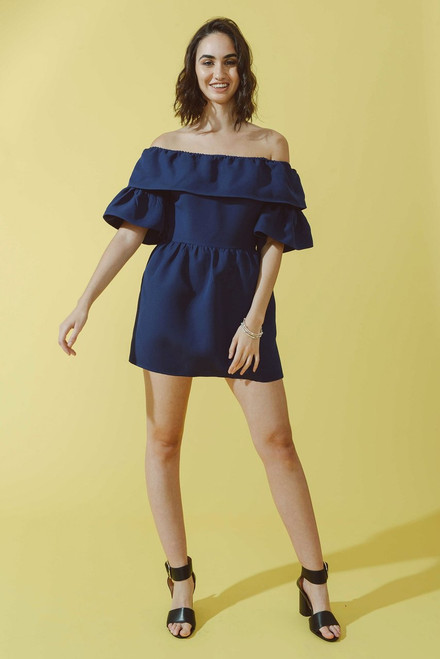 Mayamiko Grazia Navy Silk Dress