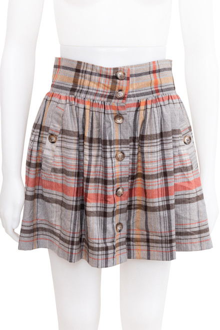 French Connection Plaid Checked Mini Skirt Preloved