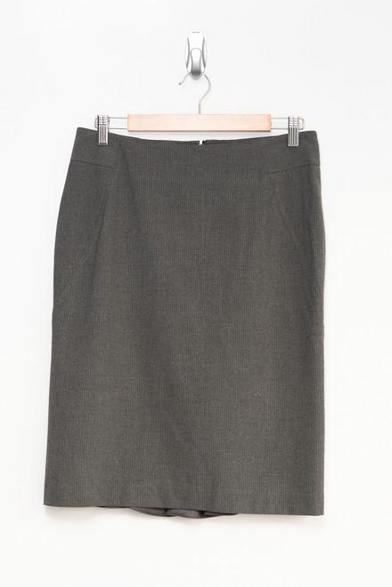 Rafaella Grey Pinstripe Pencil Skirt