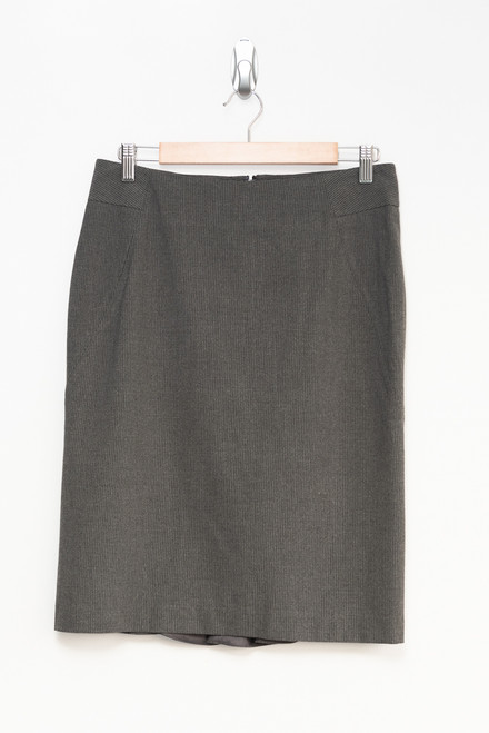 Rafaella Grey Pinstripe Pencil Skirt