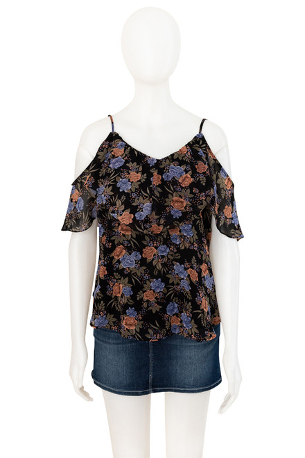 Bardot Sheer Floral Top Preloved