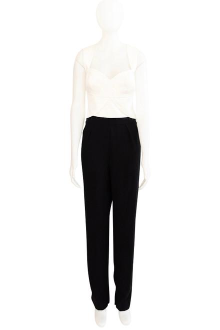 Seduce preloved black and white jumpsuit