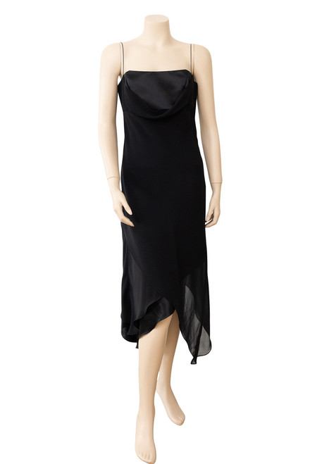 Studibaker Black Handkerchief Hem Dress Preloved