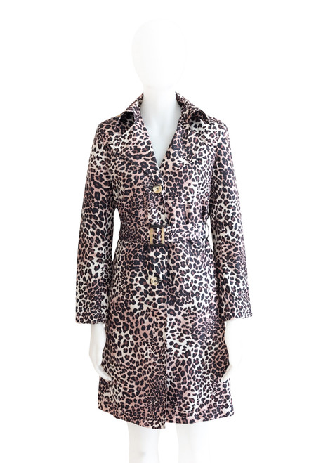 Preloved Animal Print Trench Coat by Queenspark