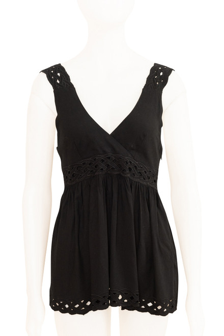 Natasha Black Babydoll Top Secondhand