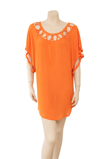 Bird and Kite Orange Tunic Style Dress