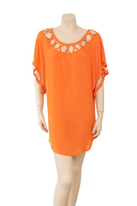 Bird and Kite Orange Tunic Style Dress