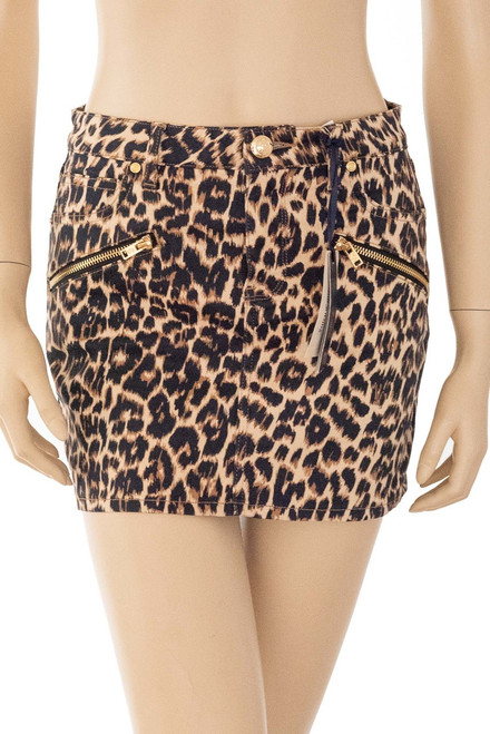 Juicy Couture cheetah print mini skirt