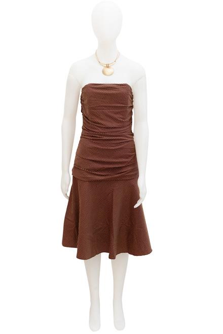 Smith & Miles Preloved-Striped Strapless Dress