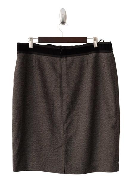 David Lawrence Grey Herringbone Skirt Preloved