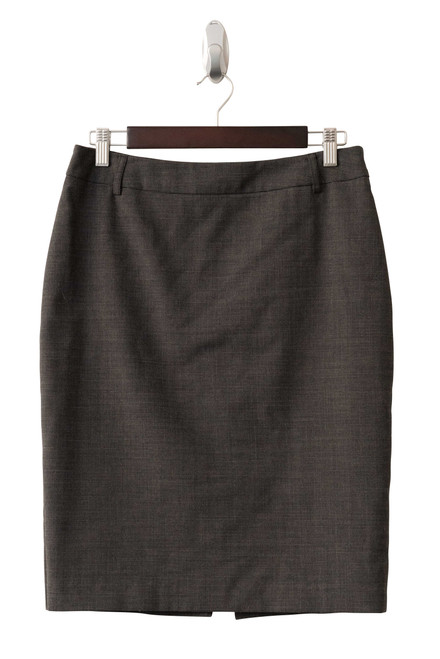 Ojay Wool Blend Grey and Black Houndstooth Skirt Preloved