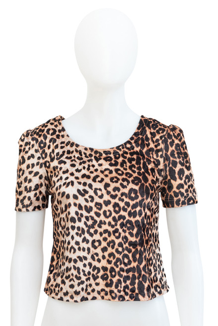 Secondhand Velour Animal Print Top