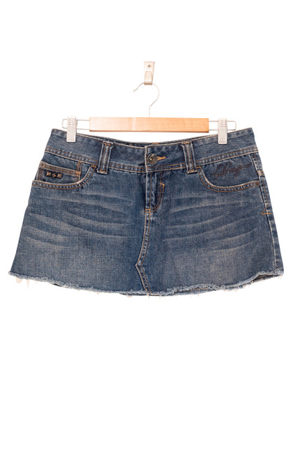 Billabong Denim Micro Mini Skirt Preloved