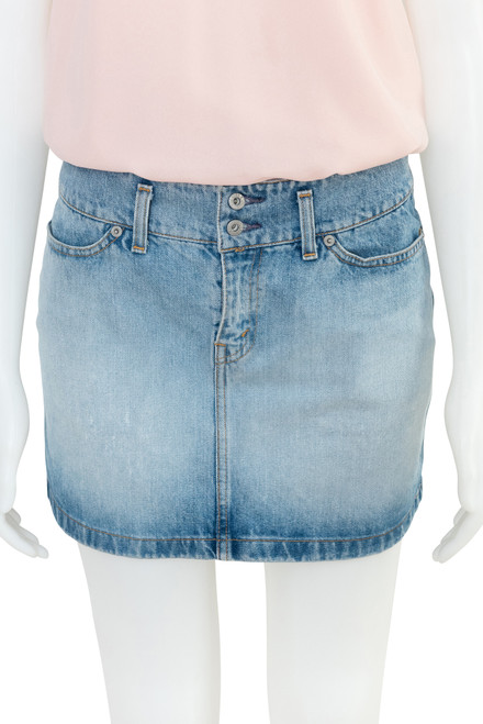 Levis Denim Preloved Mini Skirt