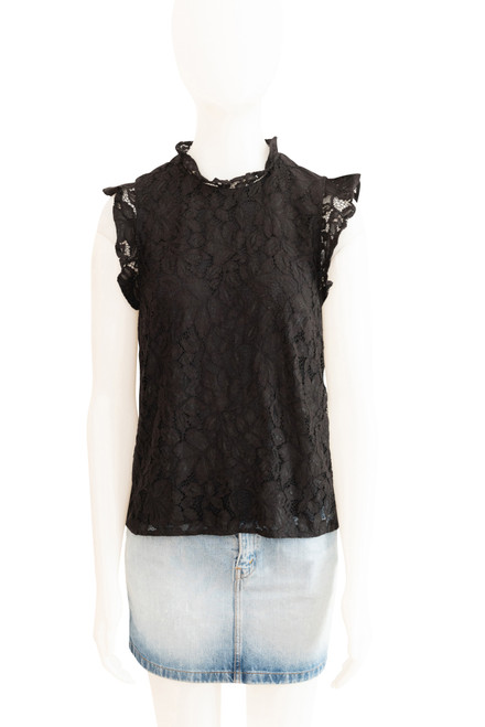 H & M Black Lace Top Preloved