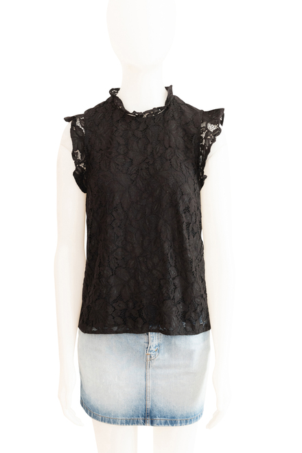 H & M Black Lace Top Preloved