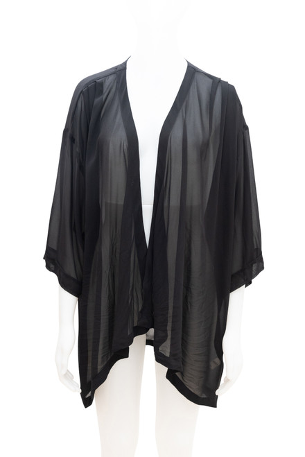 Moda Sheer Black Cardigan Preloved