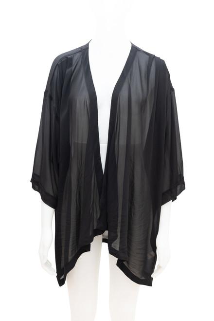 Moda Sheer Black Cardigan Preloved