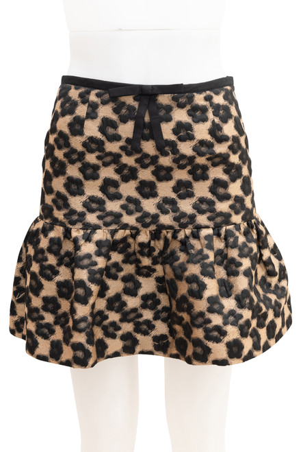 Red Valentino Floral Animal Print Mini Skirt Preloved