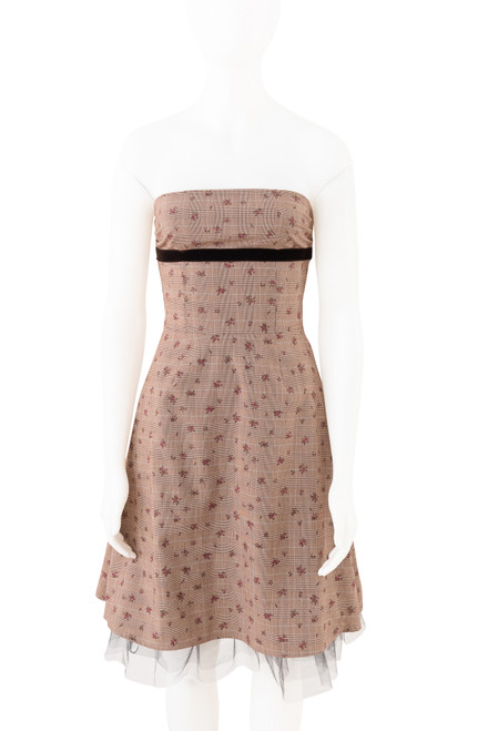 Review Strapless Vintage Style Dress