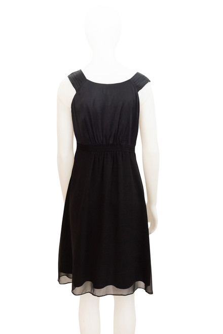 Secondhand Jigsaw Black Silk Dress