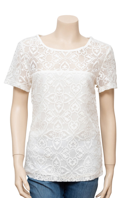 Elliatt White Lace Top Preloved