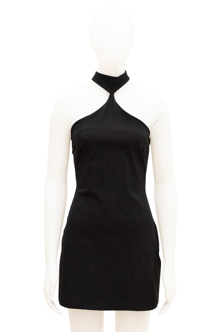 Bettina Liano Black Halterneck Dress Preloved