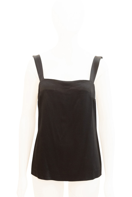 Trent Nathan Black Satin Camisole Top Preloved