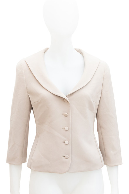 George Gross Beige Cropped Blazer Jacket Preowned