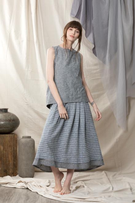 Quillan Cressida Grey Linen Top