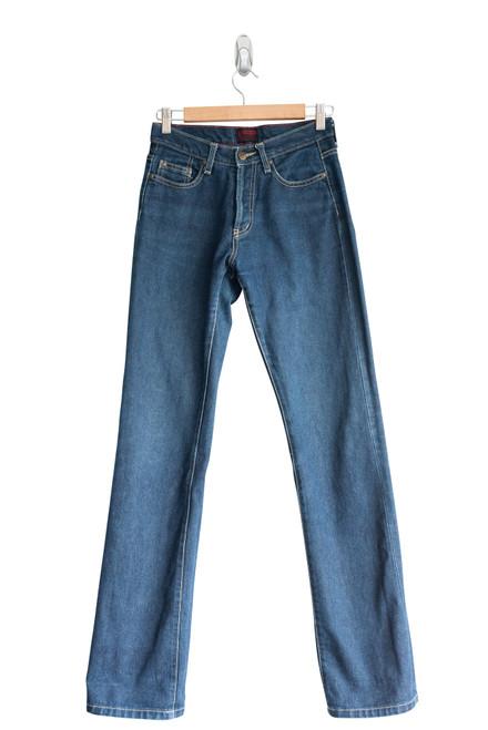 Lee Womens Turnup Preloved Denim Jeans