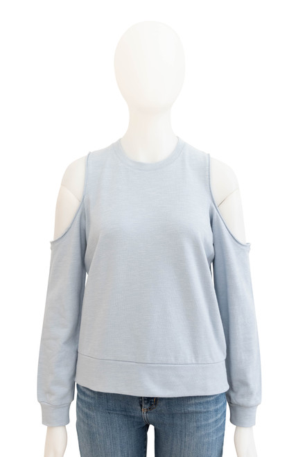 Nude Lucy Sky Blue Cutout Fleece Top