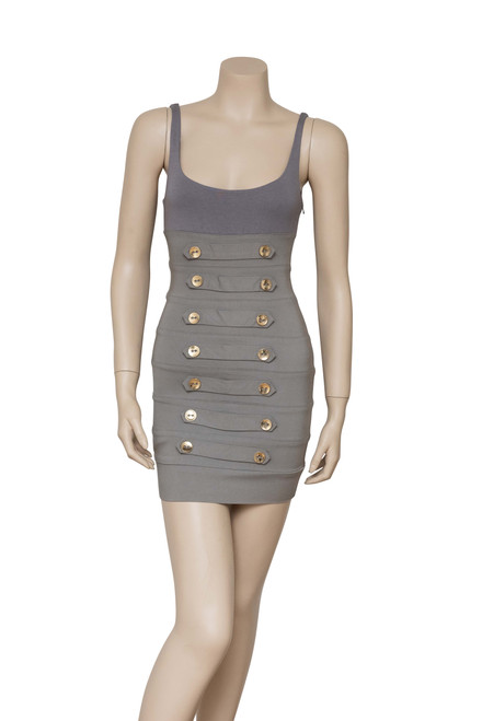 Bec & Bridge Taupe Bodycon Mini Dress Preloved